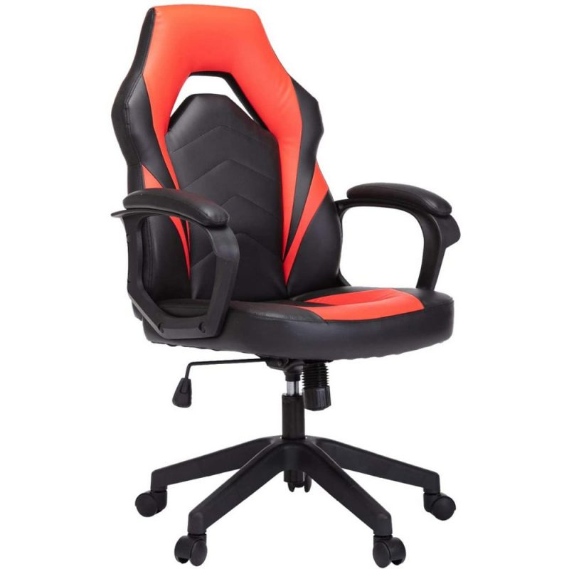 Black & Orange E-sport Leather Computer Gaming Chair