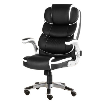 White Leather Ergonomic High Back Executive Office Computer Chair 1 350x350 - Beastseats.com